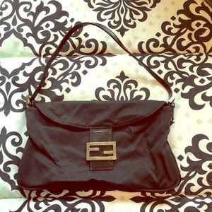 Black fendi nylon bag